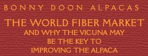 The World Fiber Market and why the vicuna may be the key to improving the alpaca